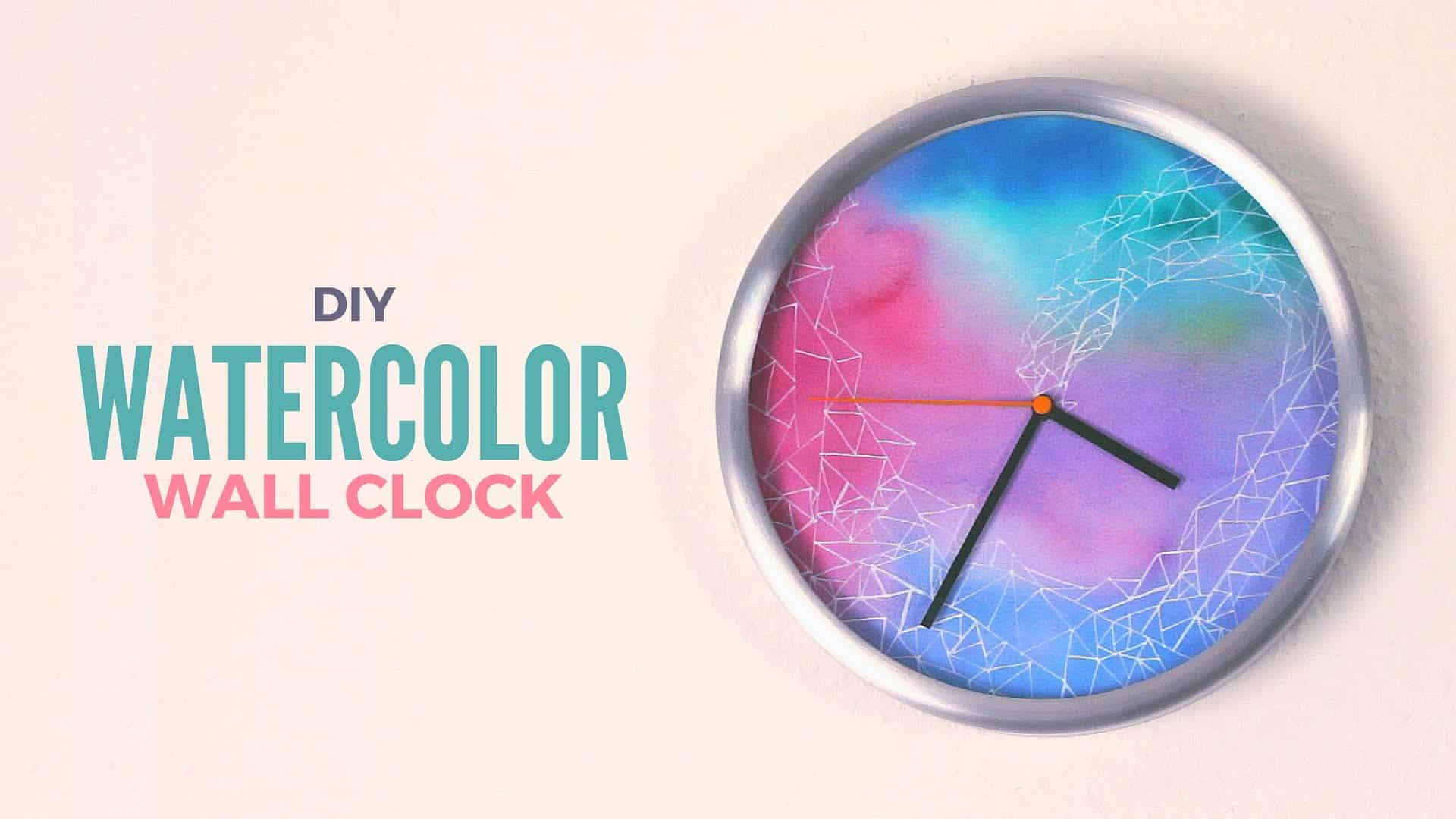 DIY water colour wall clock