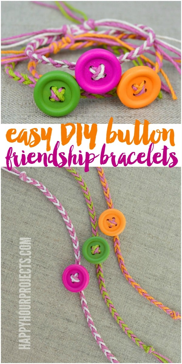 Easy braided button bracelets