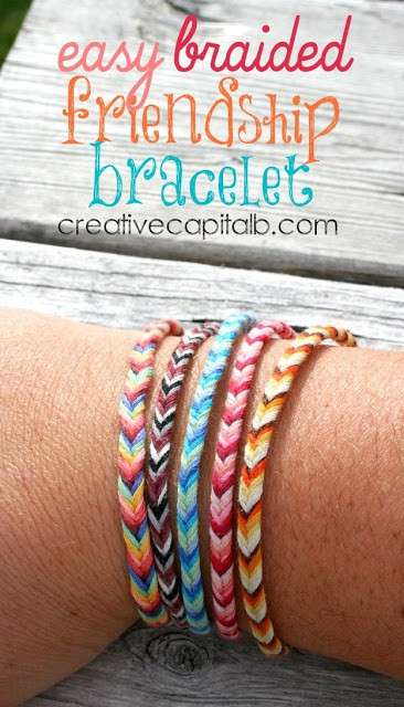 Easy fishtail braided friendship bracelets
