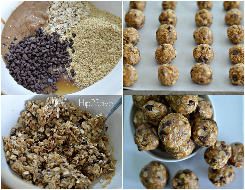 Health no-bake oatmeal energy bites