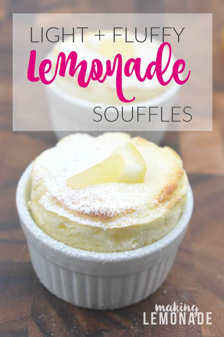 Light and fluffy lemonade souffles