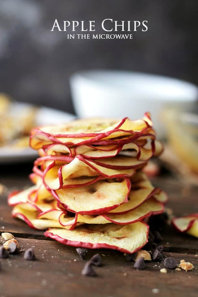 Microwave apple chips