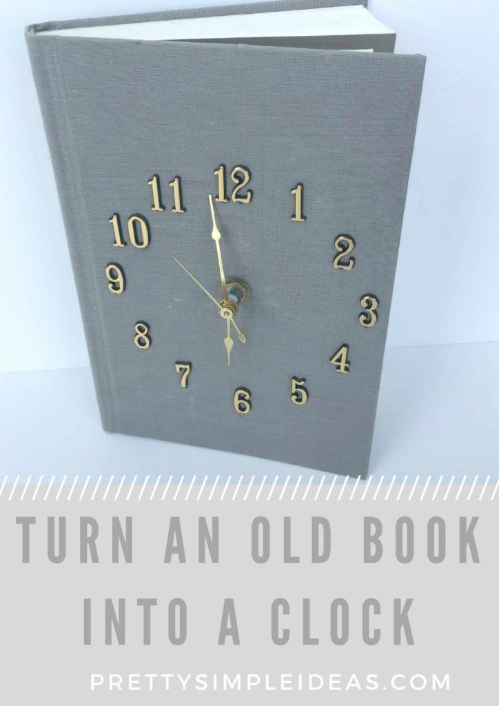 Old book into a clock