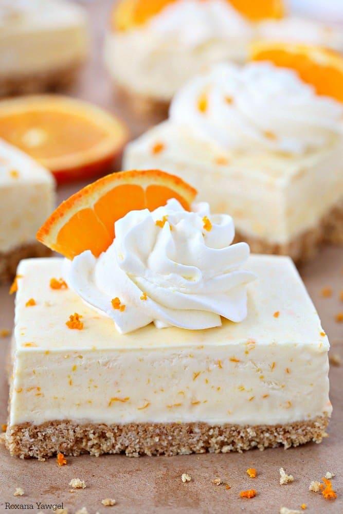 Orange dreamsicle pie bars