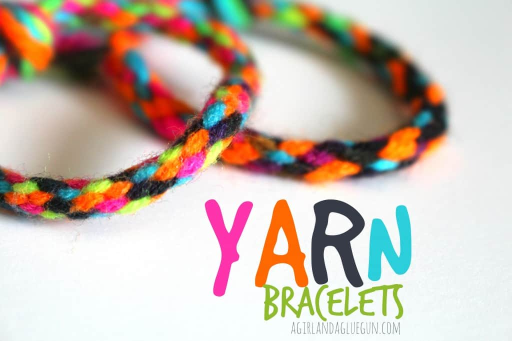 Pinwheel braided yarn bracelets