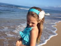 Ruffle bust halter one piece 200x150 Welcome in Warm Weather: Homemade Kids' Bathing Suits for Great Beach Days!