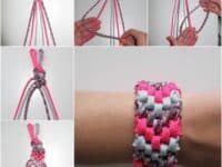 Six strand braided shoelace cuff 200x150 15 Friendship Bracelets for Kids to Make at Summer Camp and Beyond!