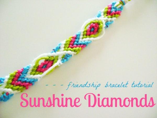 Sunshine diamond style friendship bracelet