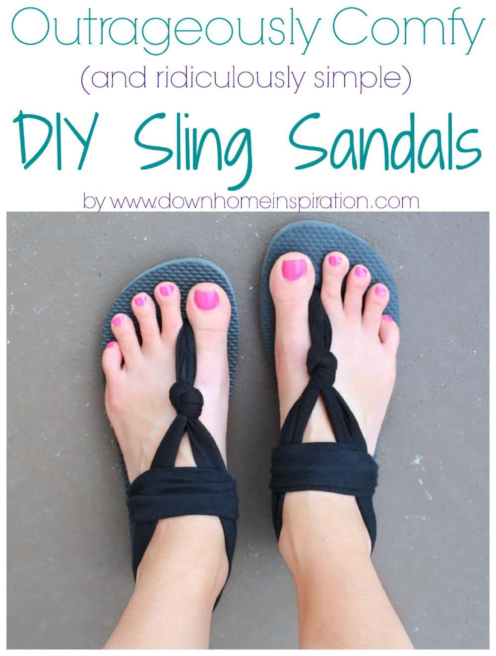 Super comfy DIY sling sandals