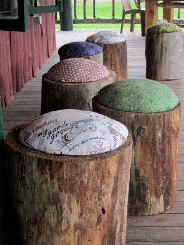 Tree stump cushions