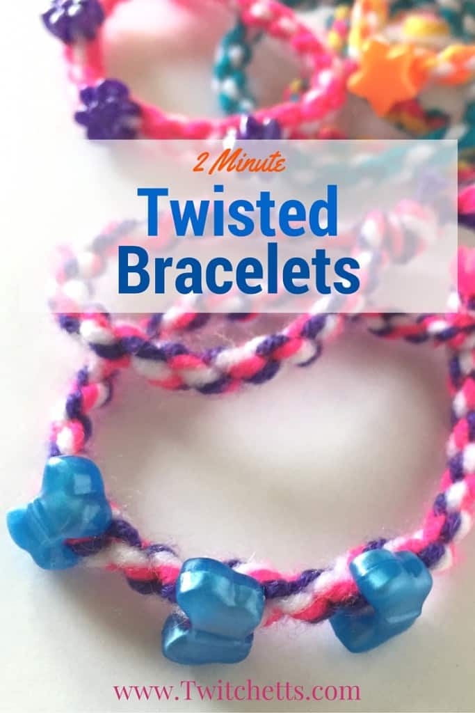Twisted bracelets with fun beads