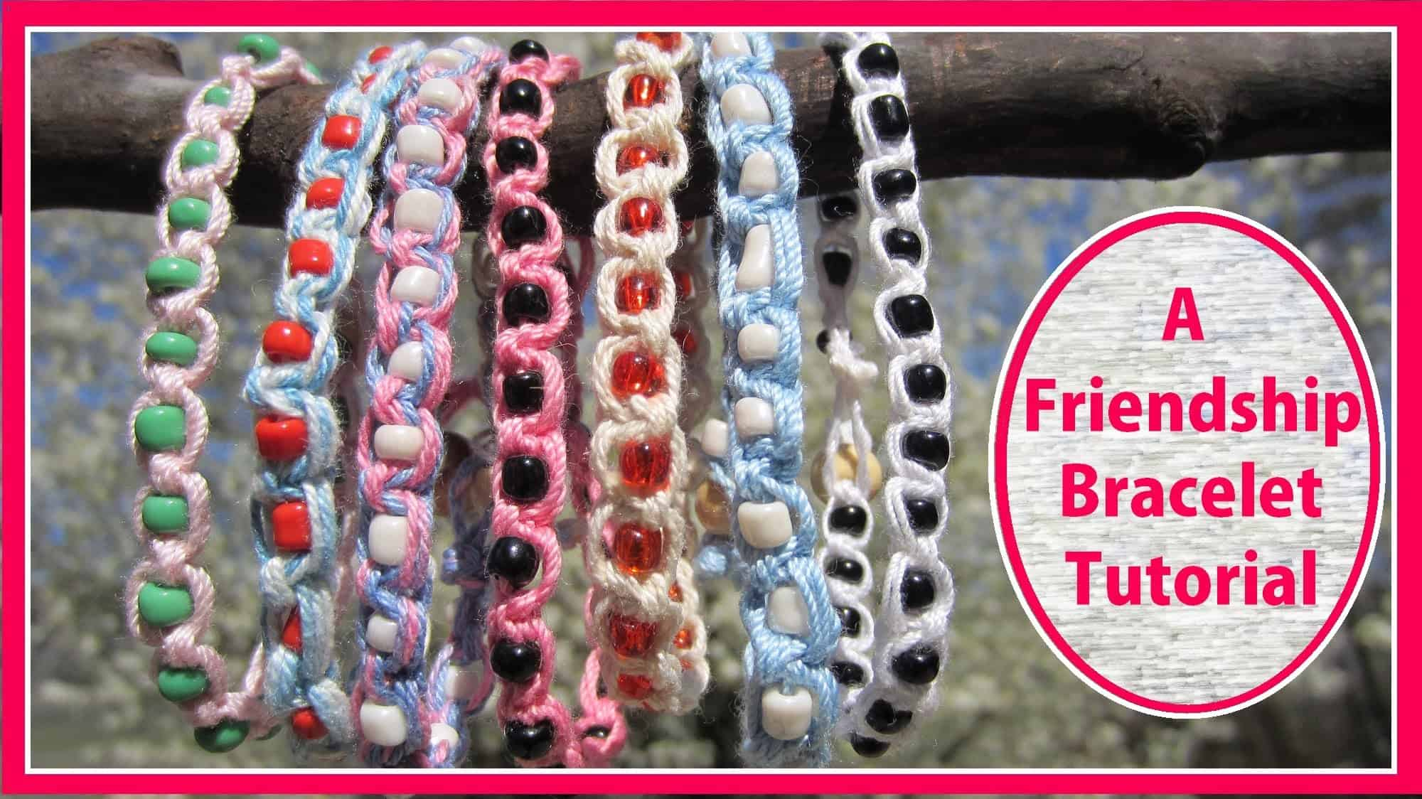 Wrapped bead bracelet tutorial