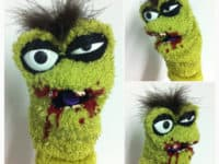 Zombie sock puppet 200x150 For Your Inner Child: Best Sock Puppet Projects for Kids of All Ages!