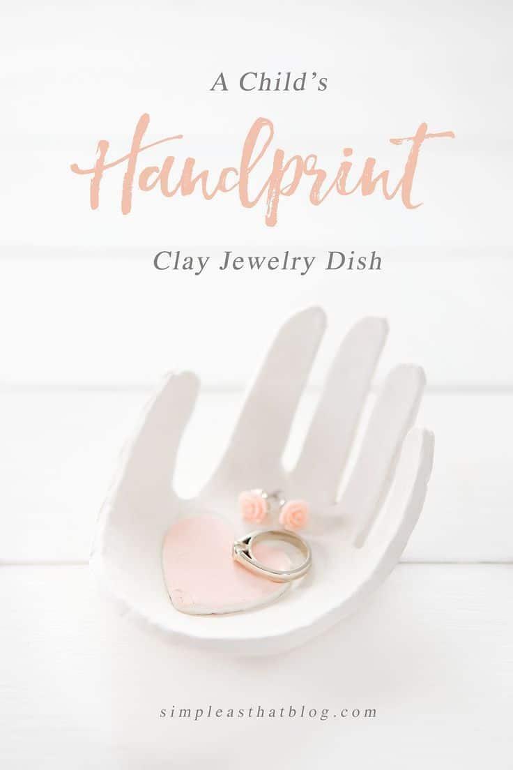 Child's handprint jewelry dish