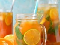 Citrus and mint ice tea 200x150 Refreshingly Cool: 15 Deliciously Unique Iced Tea Recipes
