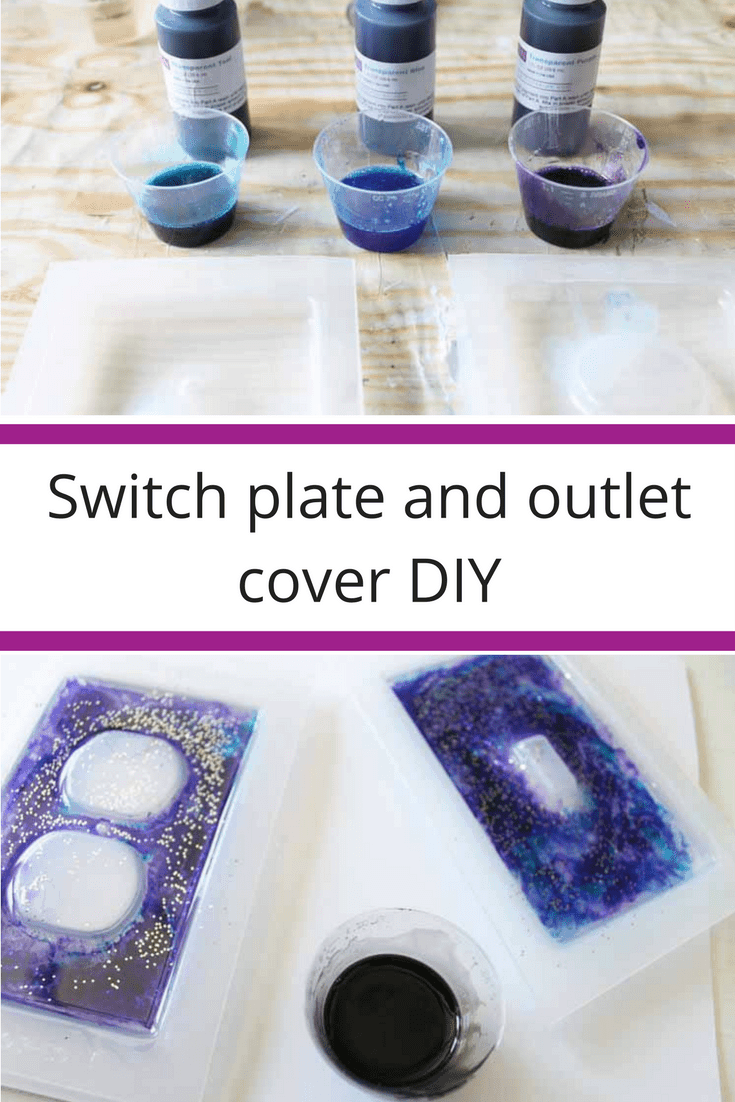 DIY glitter and resin galaxy covers