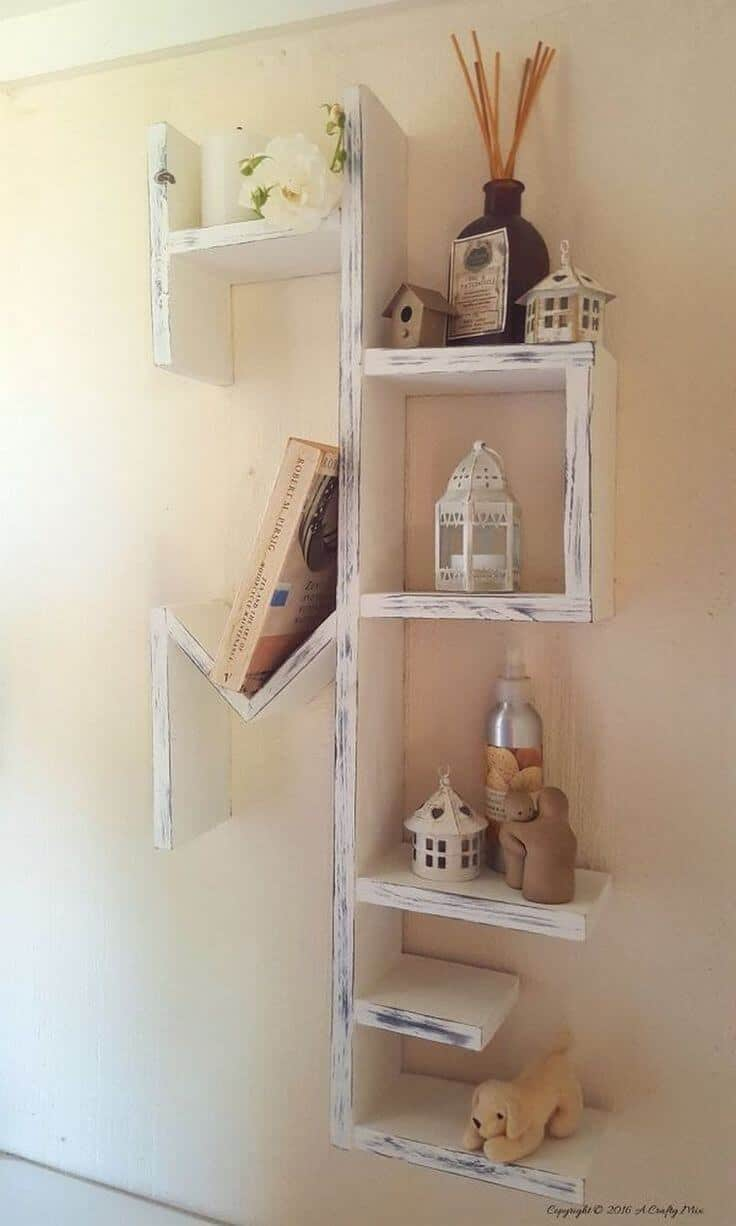 Distressed wood Home shelf