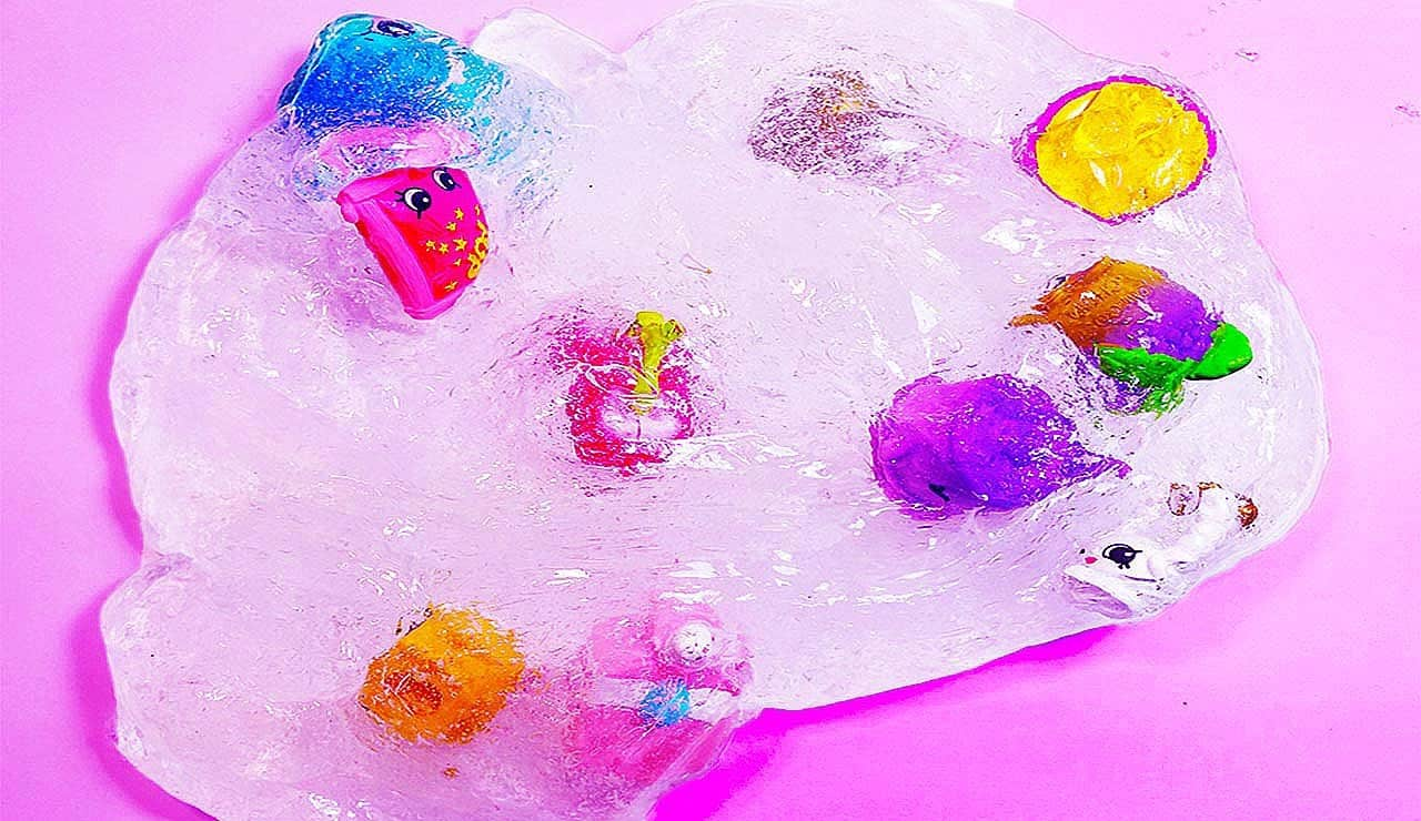 Fun, clear Shopkins slime