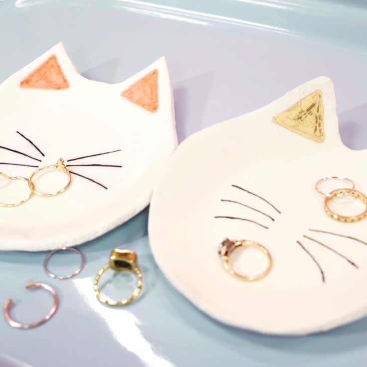 Kitty cat ring dishes