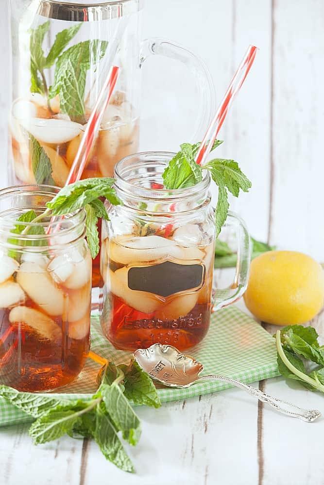 Lemongrass mint iced tea