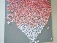 Ombre dispersing butterfly canvas 200x150 Colorfully Charming: Lovely DIY Butterfly Decor Projects