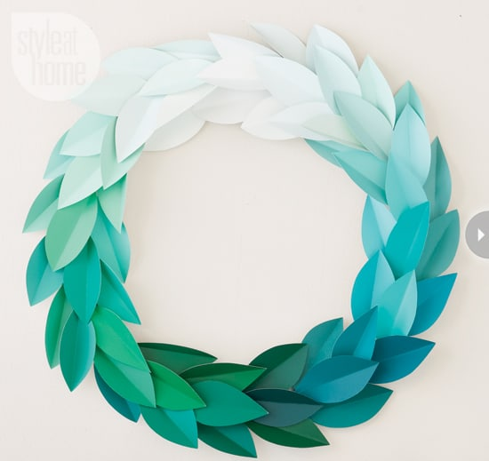 Ombre paint swatch wreath