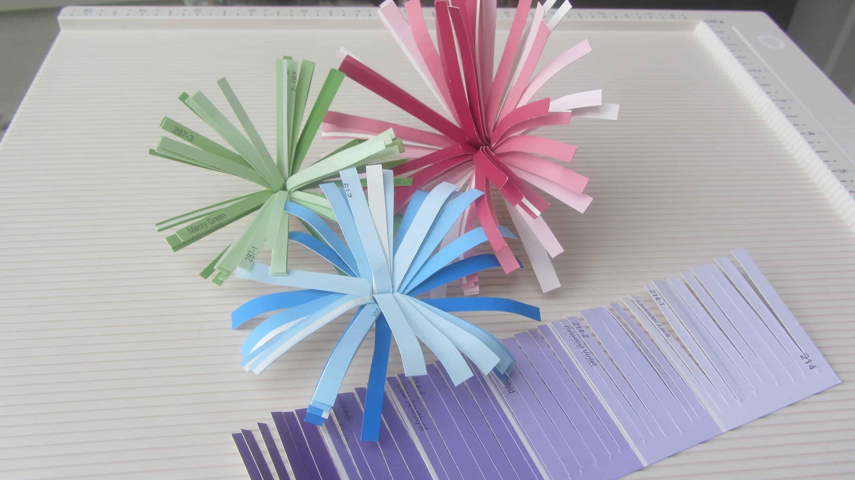 Paint sample fringed flowers