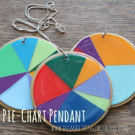 Paint swatc and resin pie chart pendant