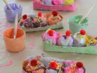 Painted ice cream sundaes 200x150 Chill Out: Super Cute Ice Cream Themed DIY Projects