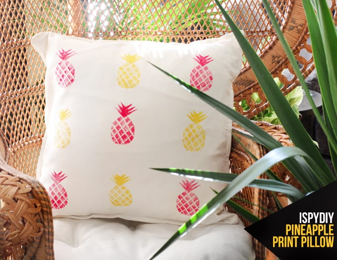 Pinepple stamped pillow