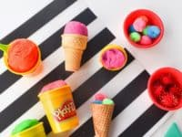 Play dough ice cream cones 200x150 Chill Out: Super Cute Ice Cream Themed DIY Projects