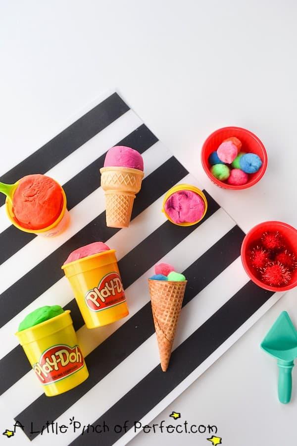 Play dough ice cream cones