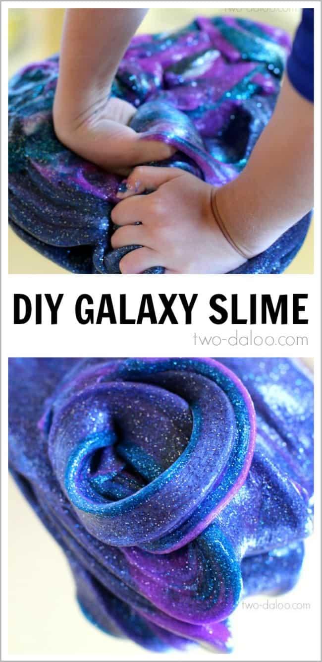 Sparkly DIY galaxy slime