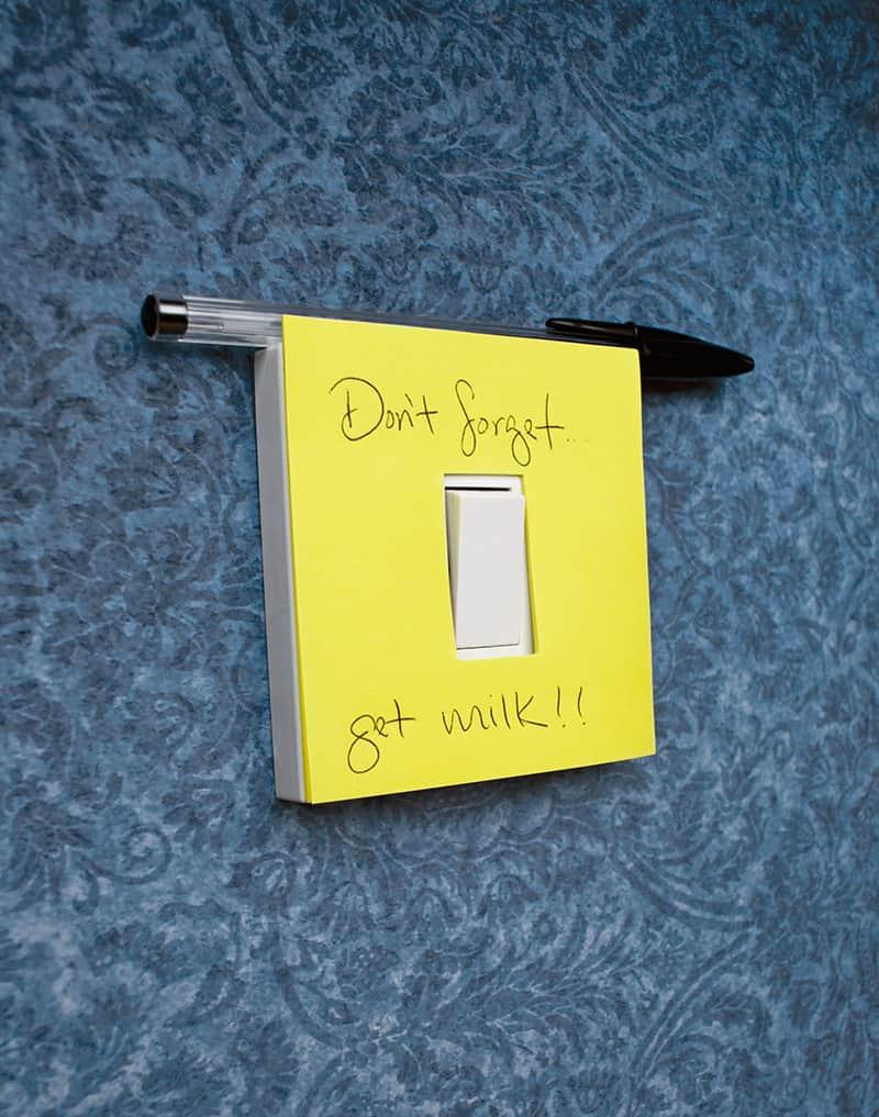 Sticky note pad light cover