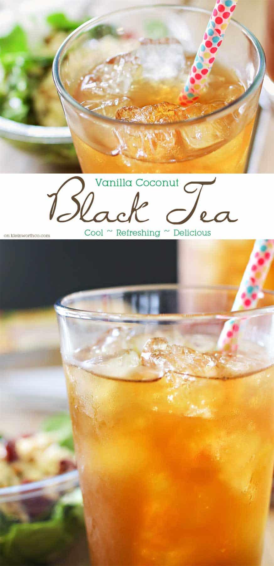 Vanilla coconut iced black tea