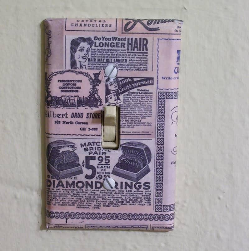 Vintage newspaper outlet