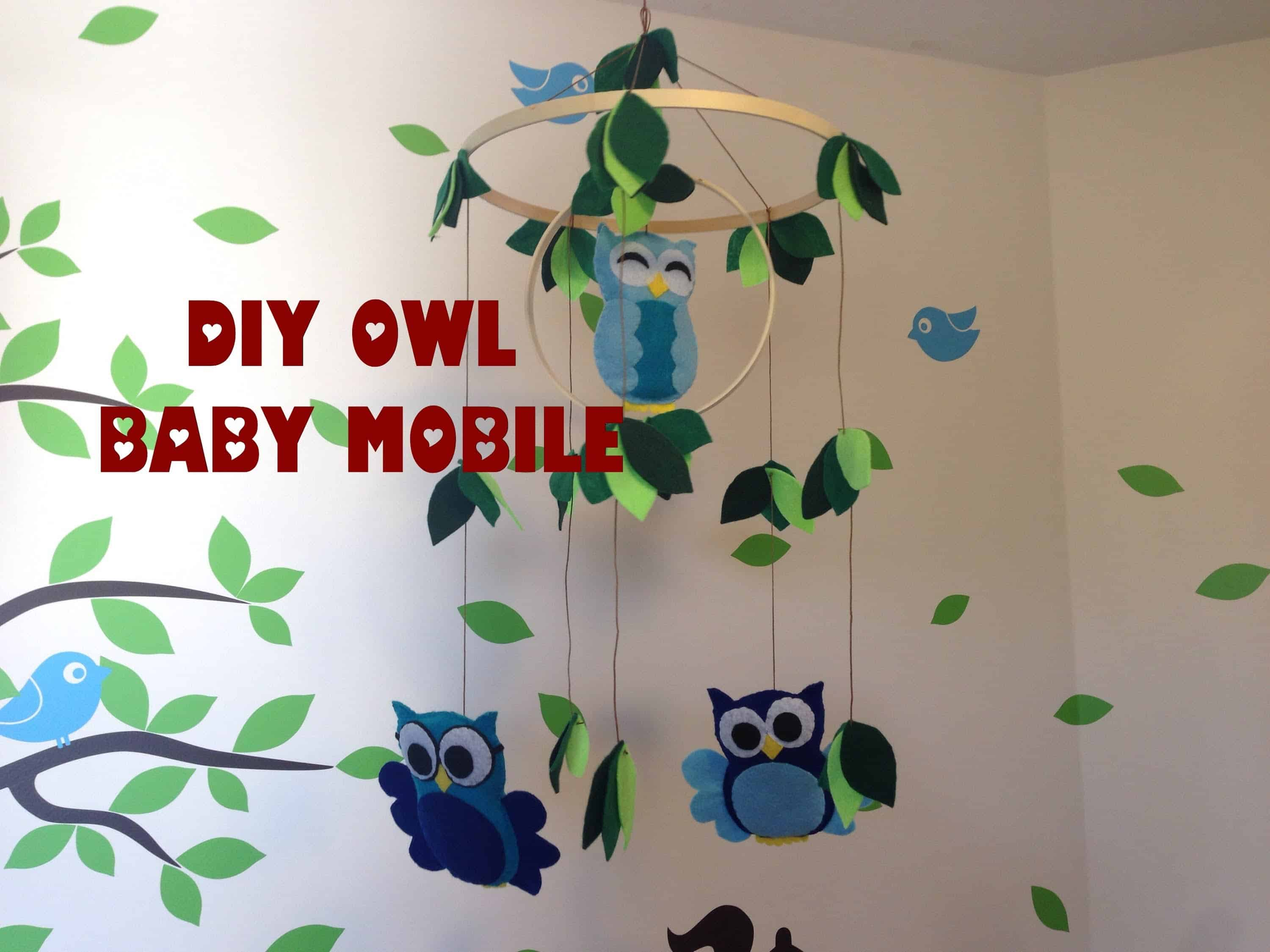 Baby owl mobile