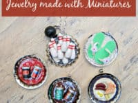 Bottle cap and miniature food necklace pendants 200x150 Unbottled Creativity: Cool Crafts Made with Bottle Caps