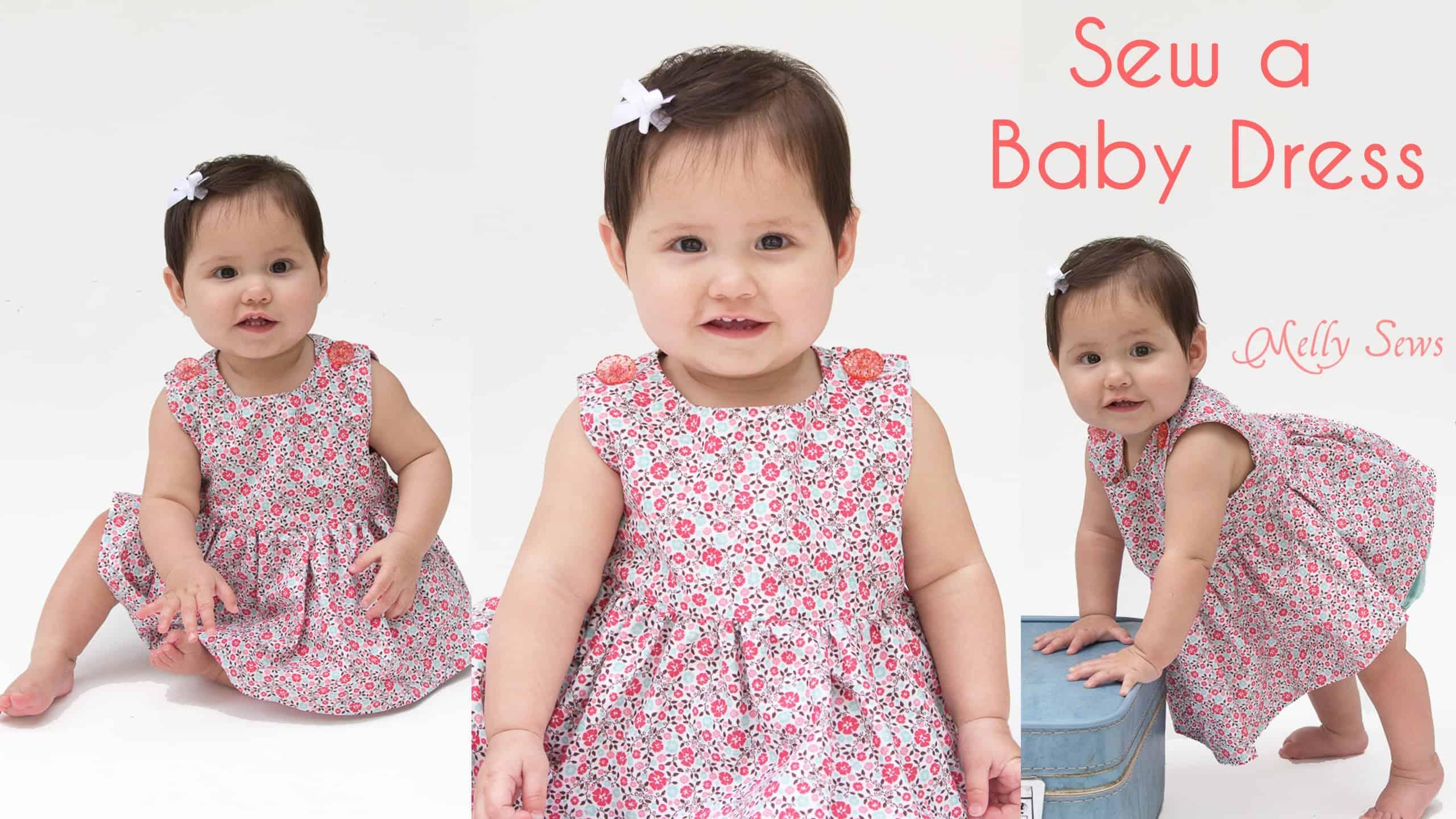 Button shoulder baby dress