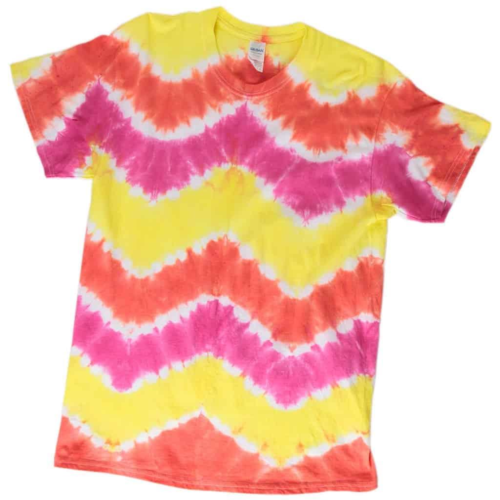 Chevron tie dye t-shirt