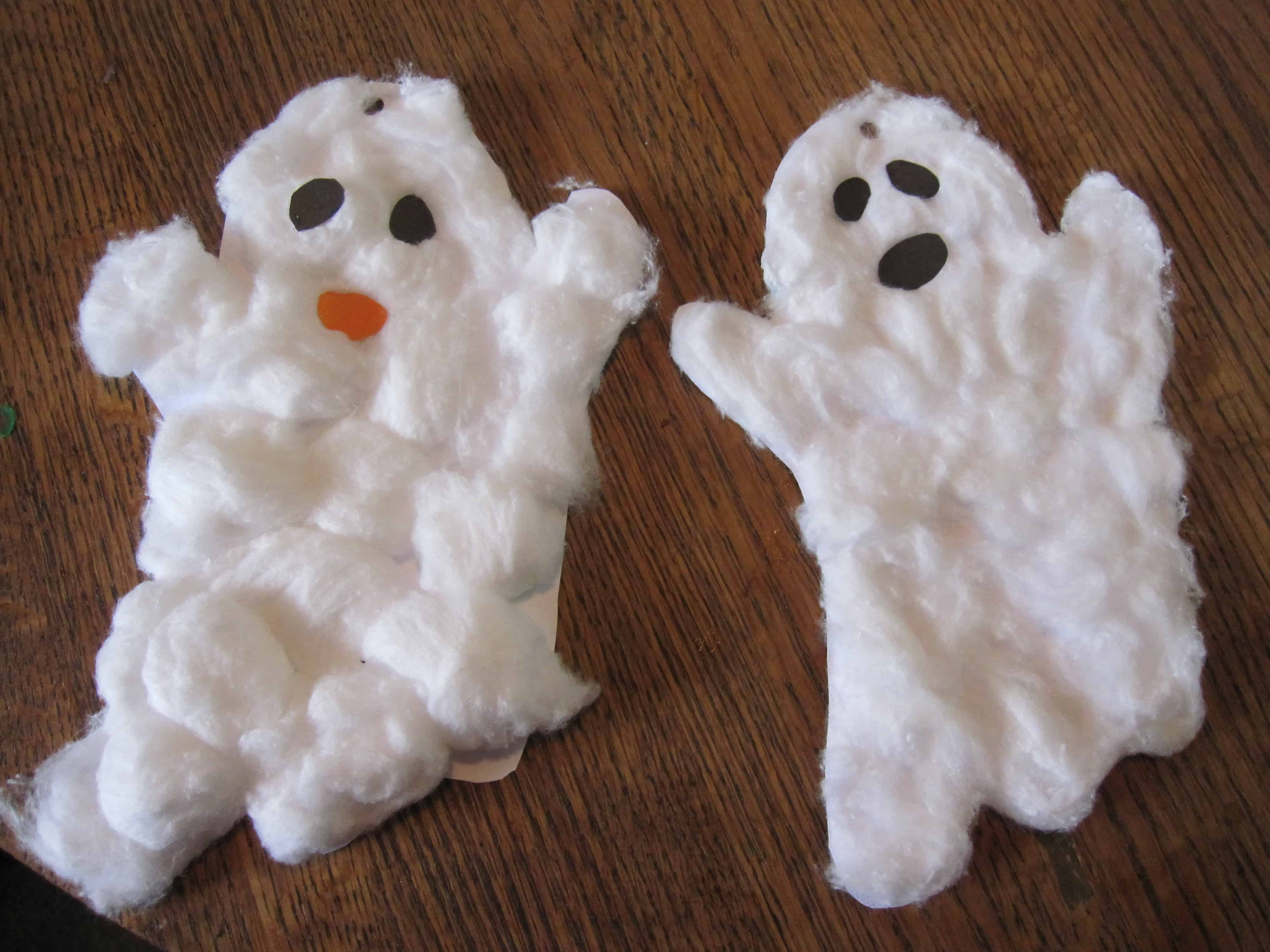Cotton ball ghosts