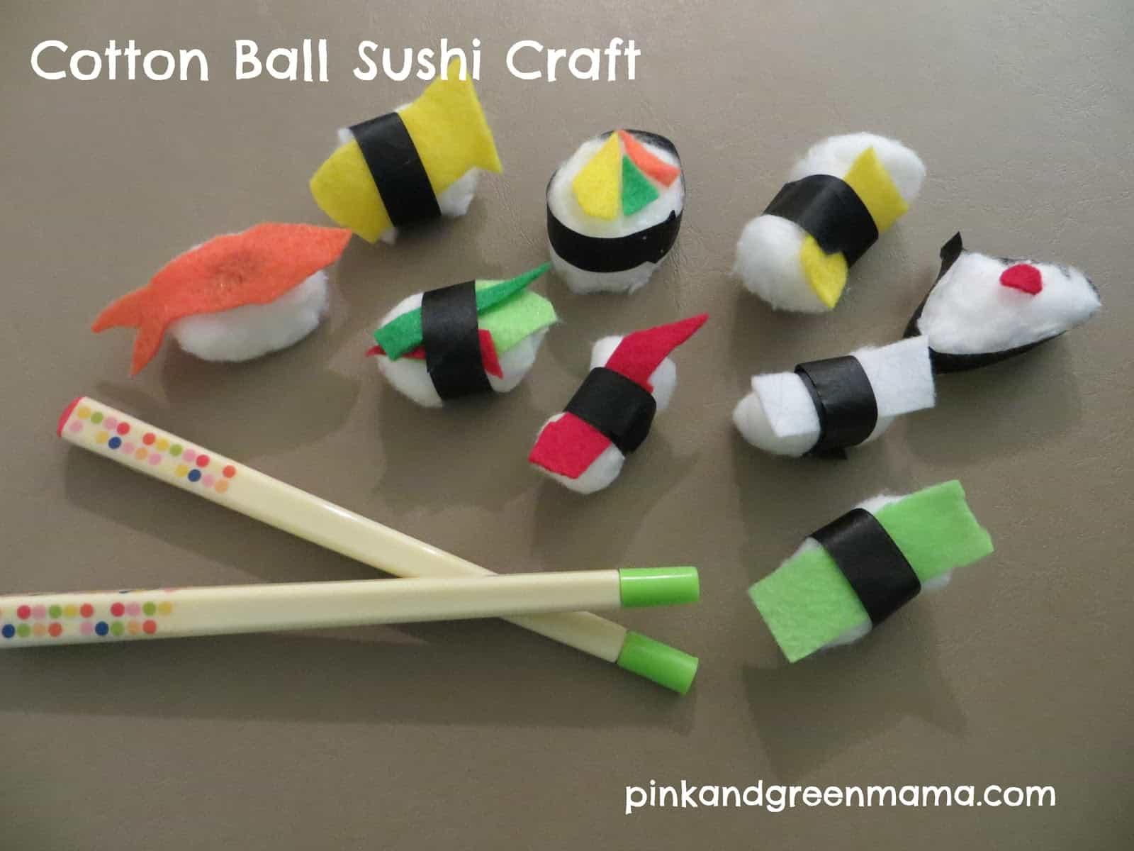 Cotton ball sushi