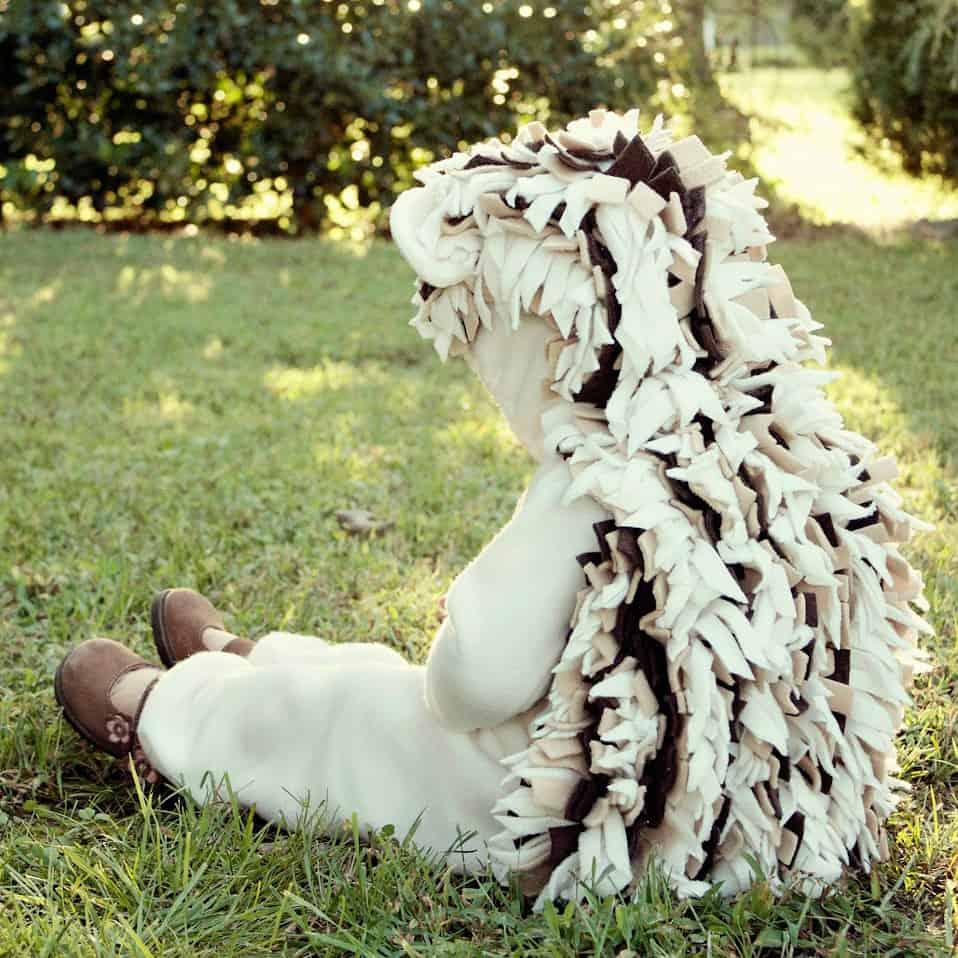 DIY baby hedgehog costume