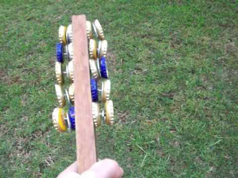 DIY bottle cap musical instrument