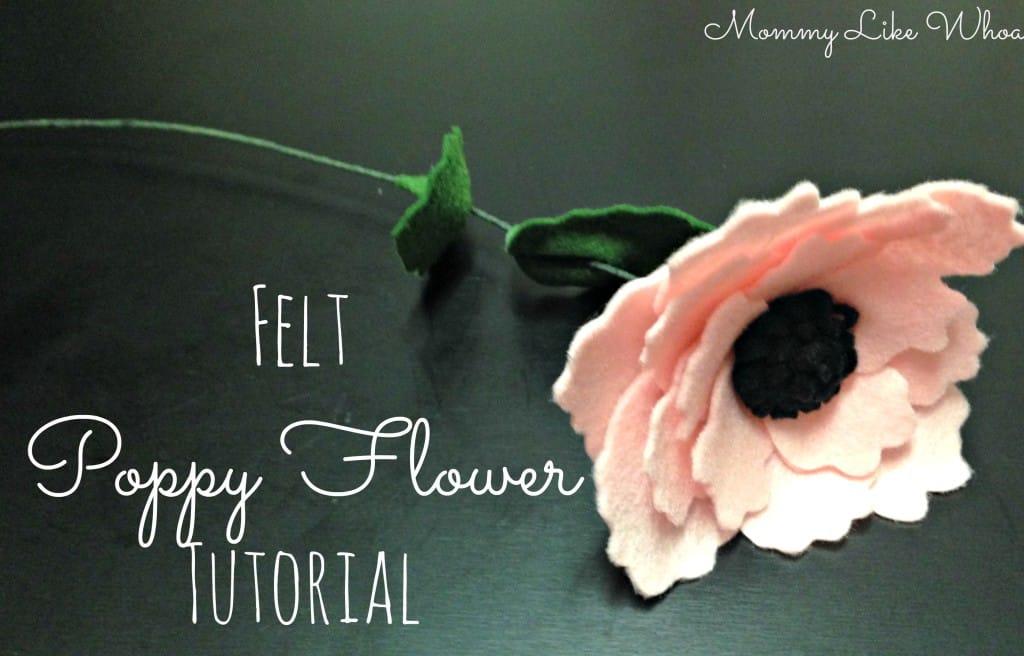 DIY felt poppy flower