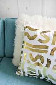 DIY gold foil pillow