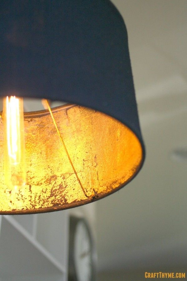 DIY gold leaf lampshade