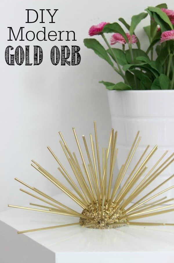 DIY modern gold orb