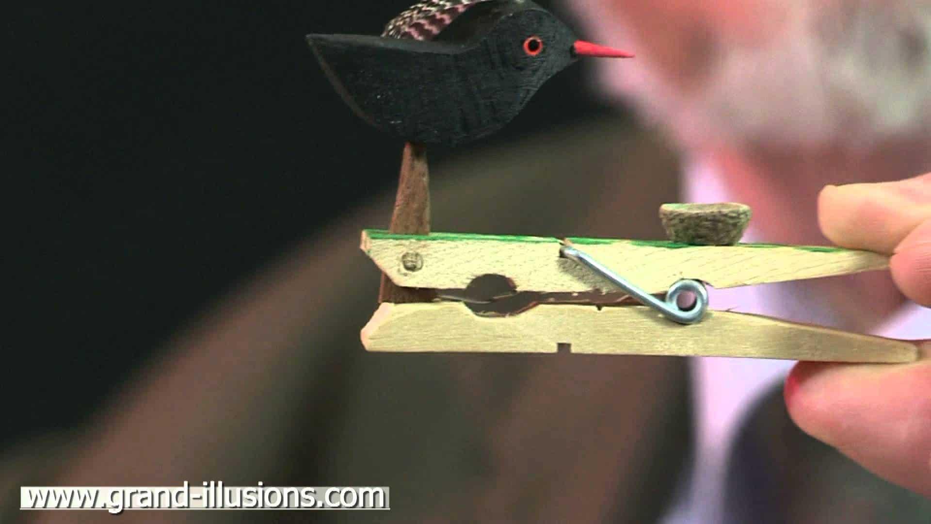 DIY pecking bird toy