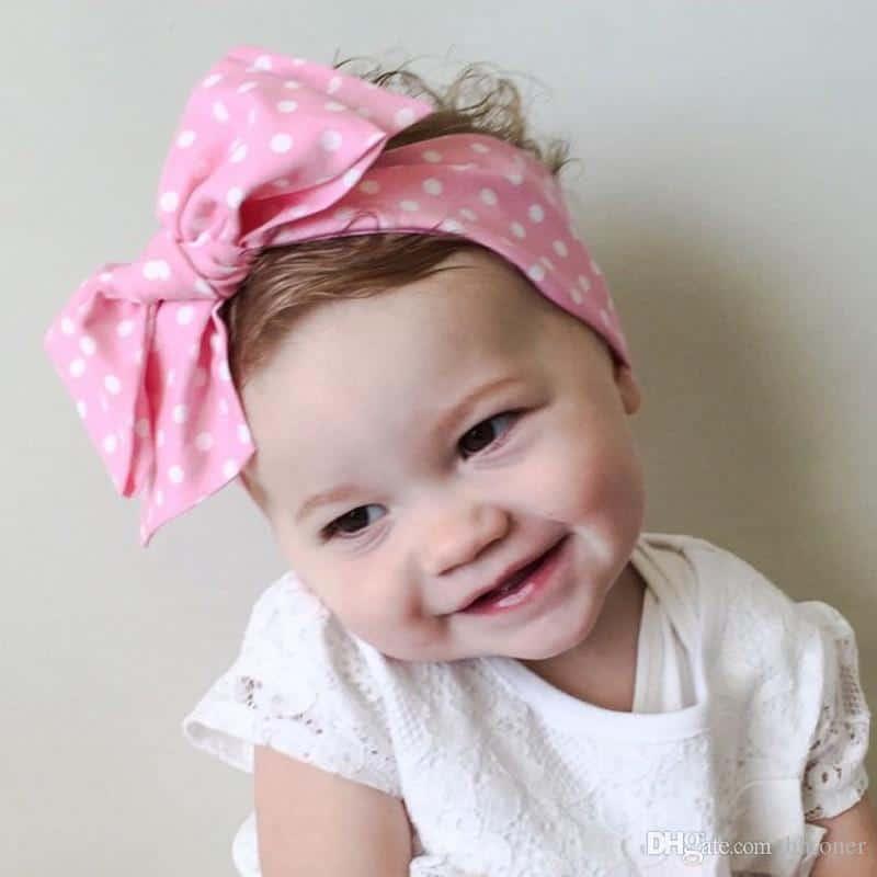DIY tie bow baby headbands